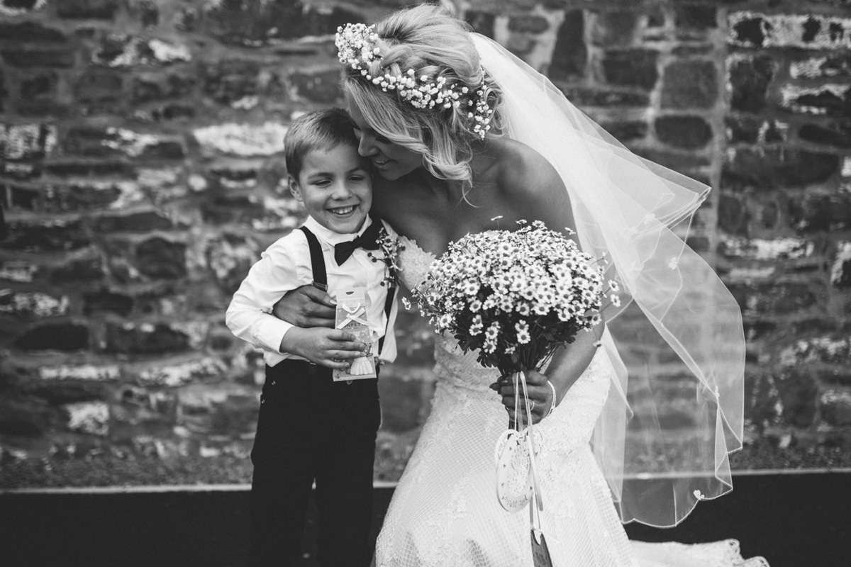 bride and nephew