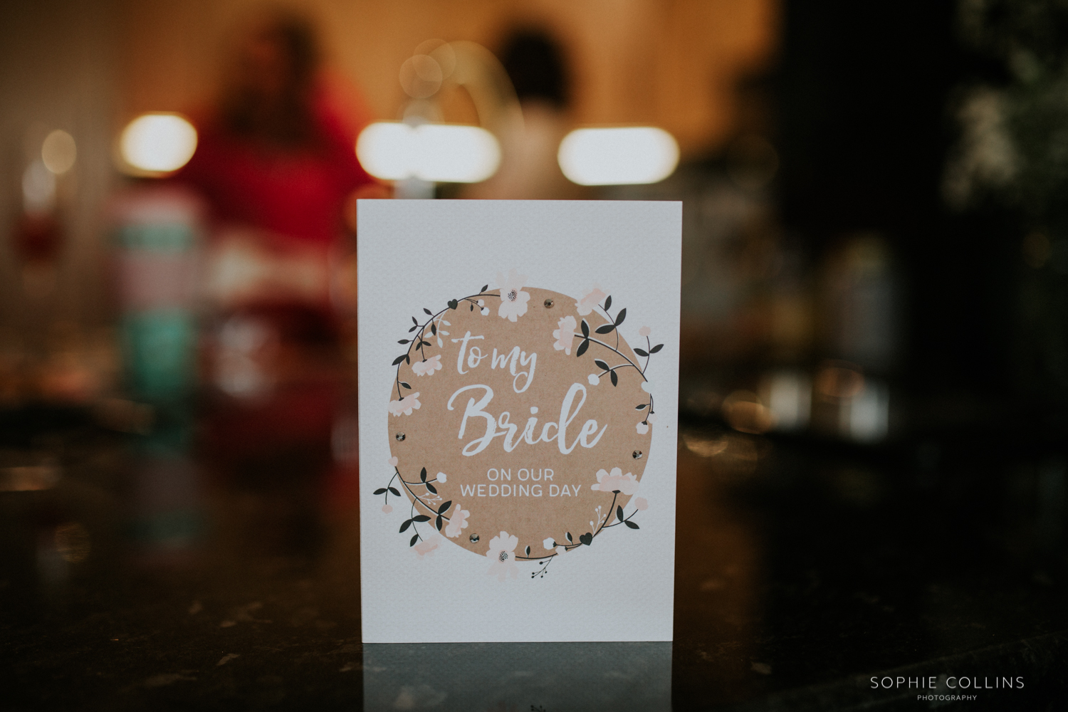 card from the groom