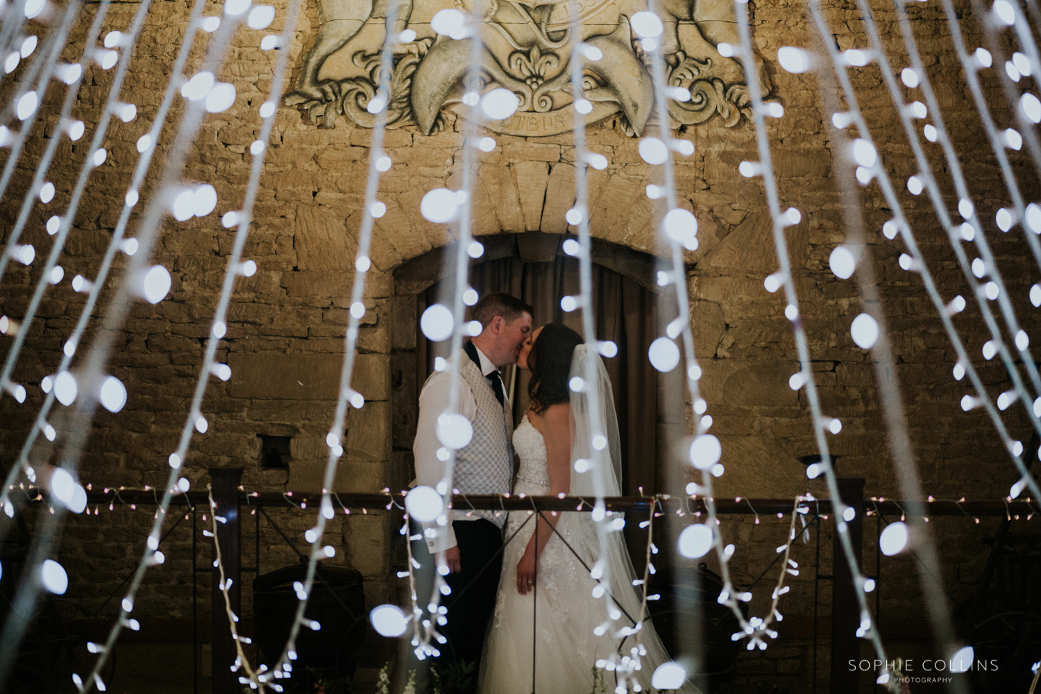 couple in lights