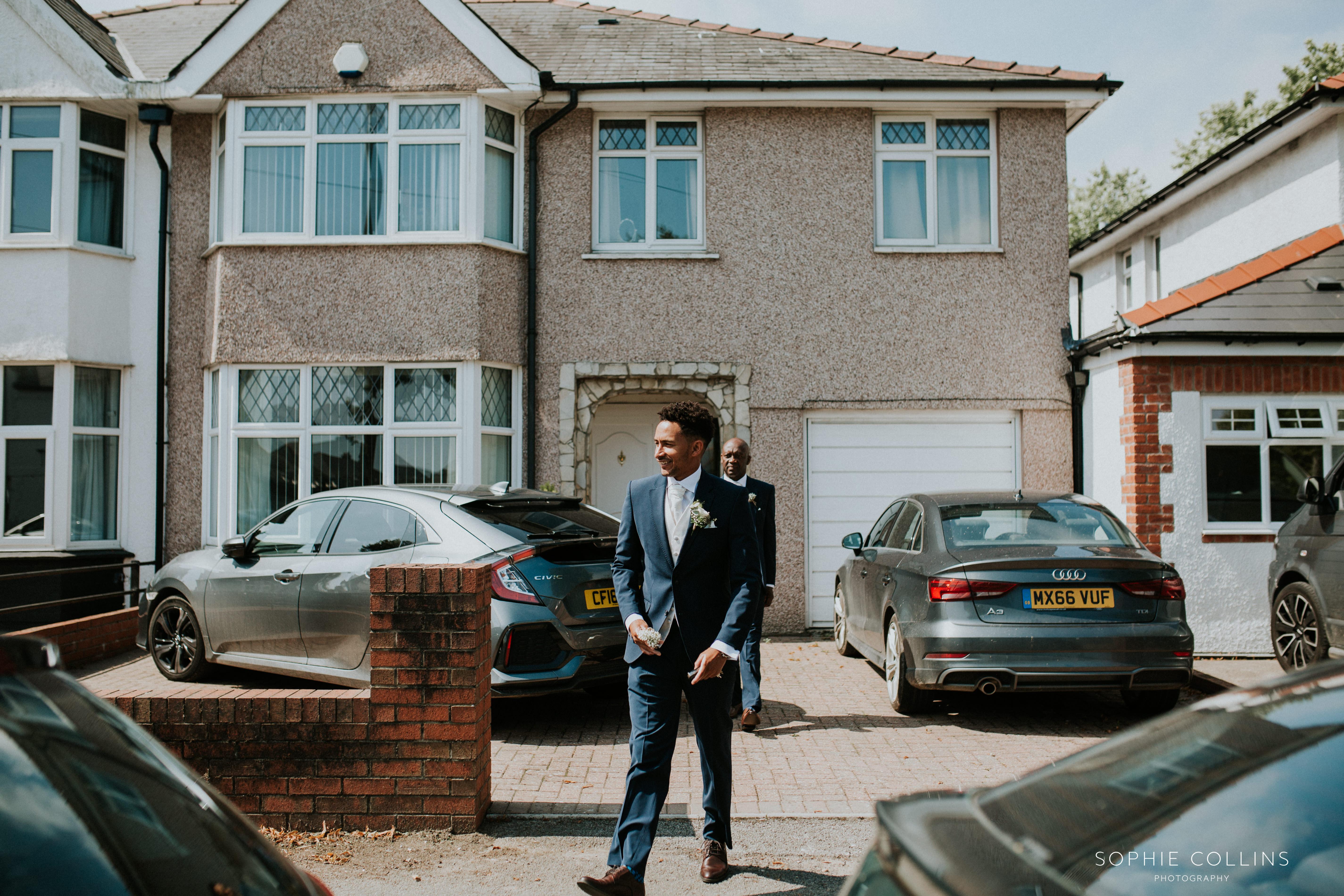groom leaving house