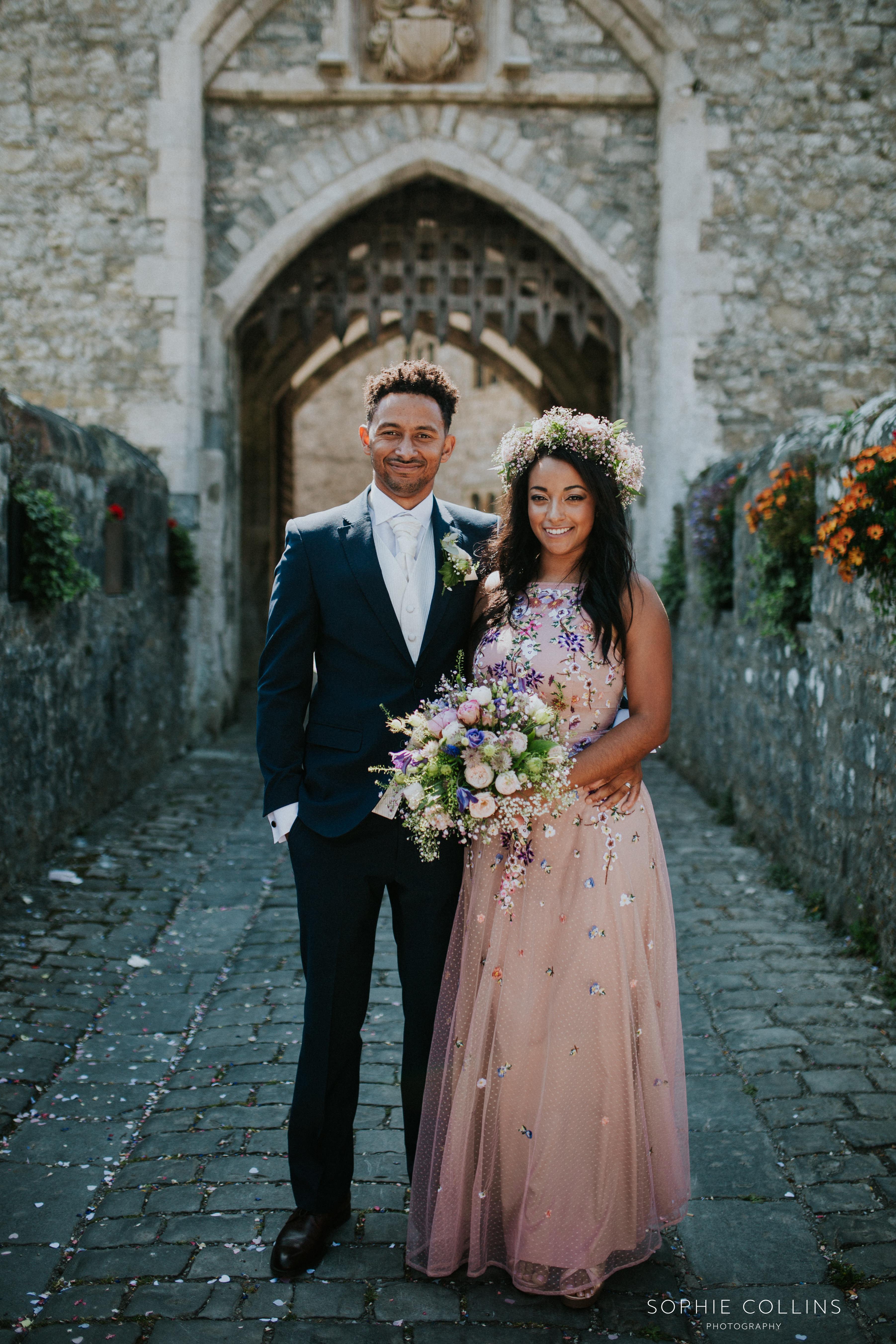 groom and sister