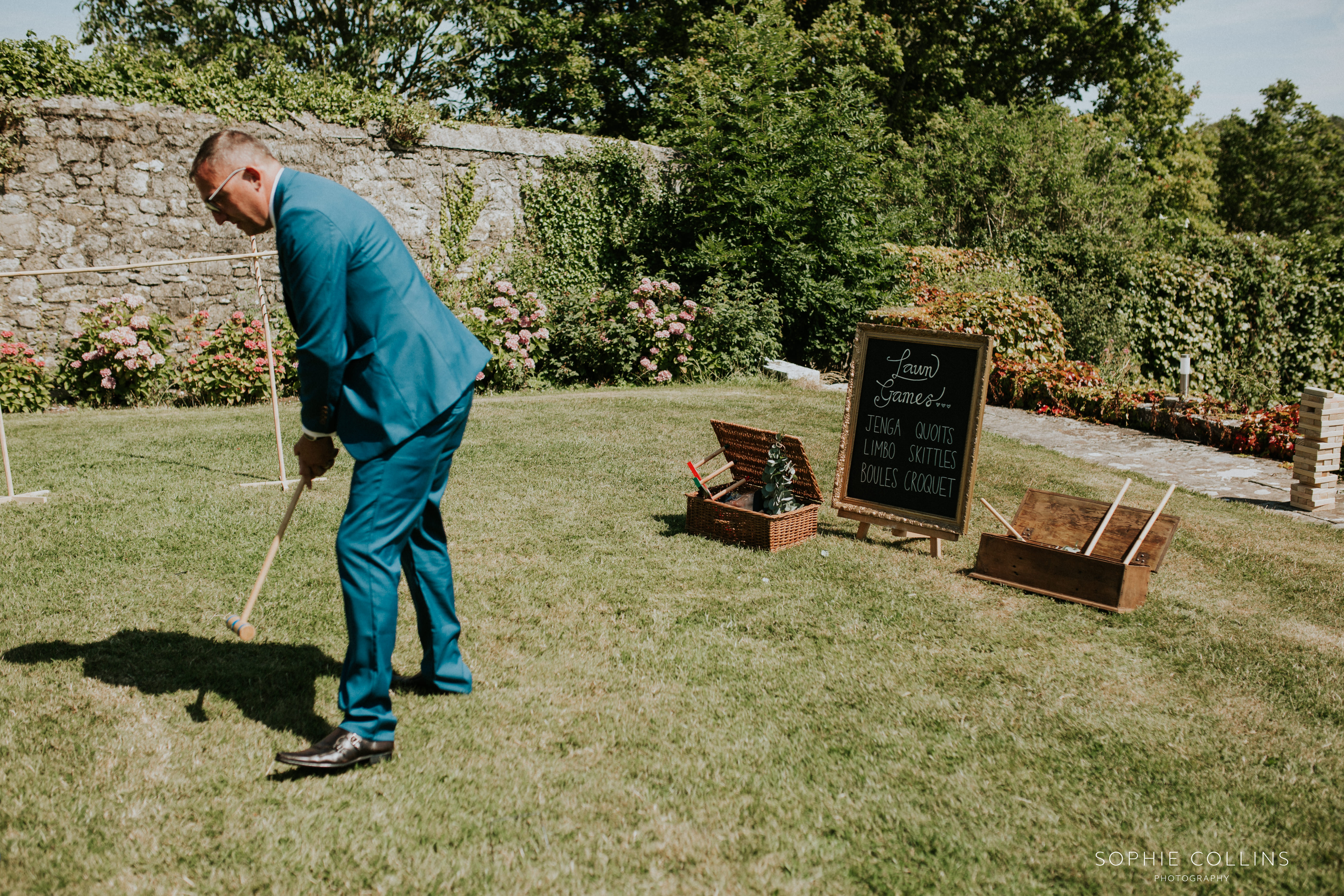 guest playing lawn games